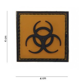 Patch Gummi Biohazard, gelb