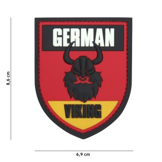 Patch Gummi German Viking, schwarz/rot/gold