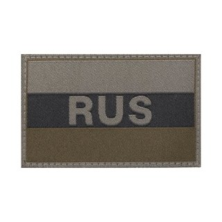 Patch Stoff Russia Flag, oliv