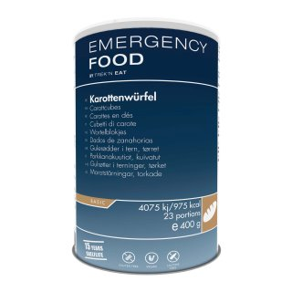 Emergency Food Karottenwürfel, 400 g, 23 Port.